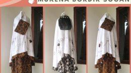 Grosiran Mukena Murah Konveksi Mukena Bordir Sogan Dewasa Terbaru Murah di Bandung 85RIBUAN!!!