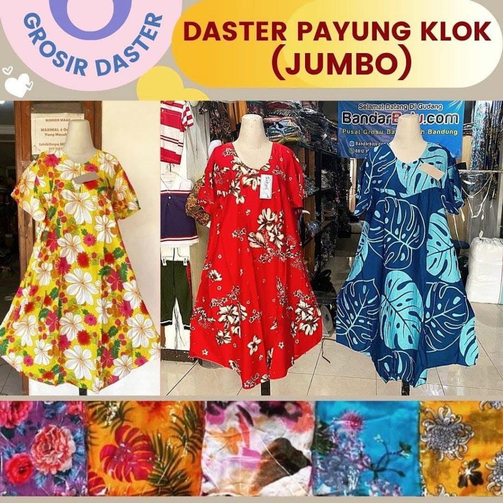 GROSIR MUKENA BALI MURAH DI KOTA BANDUNG Distributor Daster Payung Klok (Jumbo) Rp. 36.500